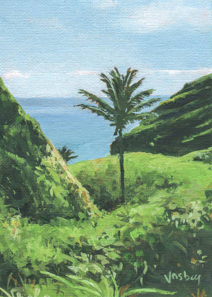 Wall Art - Painting - Kipahulu Palm Maui by Stacy Vosberg