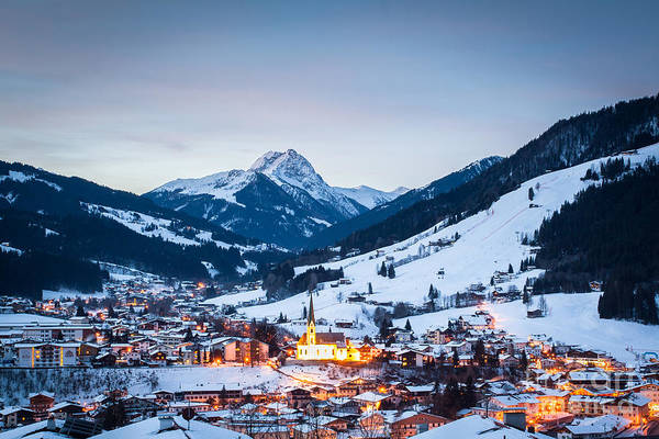 Art Print featuring the photograph Kirchberg Austria In The Evening by John Wadleigh