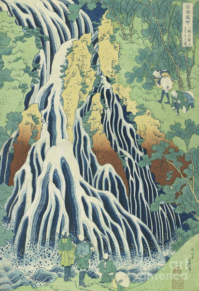 Hokusai Wall Art - Painting - Kirifuri Falls Near Mount Kurokami In Shimotsuke Province by Hokusai
