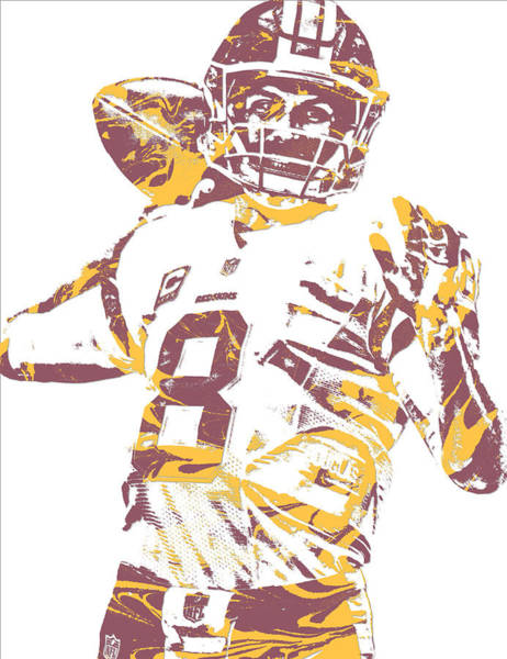 Wall Art - Mixed Media - Kirk Cousins Washington Redskins Pixel Art 10 by Joe Hamilton