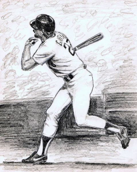 1988 Drawing - Kirk Gibson by Mel Thompson
