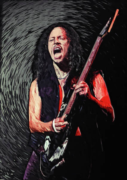 Thrash Metal Wall Art - Digital Art - Kirk Hammett by Zapista Zapista