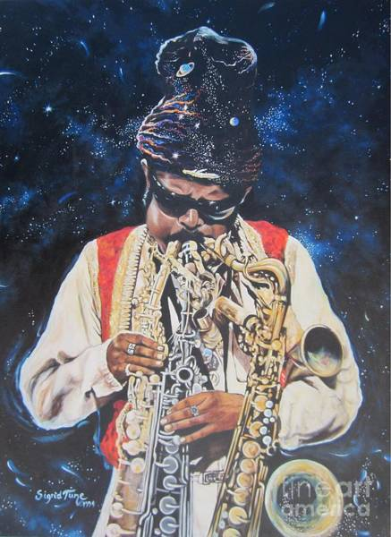 Painting - American History. .  Rahsaan  Roland Kirk  by Sigrid Tune