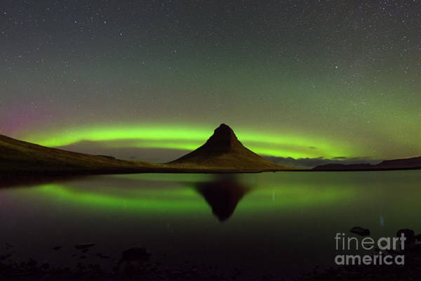 Photograph - Kirkjufell Aurora Reflections by Michael Ver Sprill
