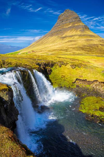 Photograph - Kirkjufell Mountain And Kirkjufellfoss Waterfall In Iceland by Matthias Hauser