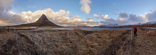 Photograph - Kirkjufell Mountain Panoramic View, Iceland by Pradeep Raja PRINTS