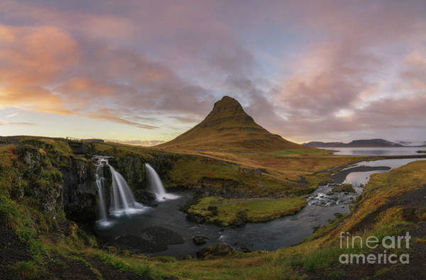Photograph - Kirkjufell Panorama Sunset by Michael Ver Sprill