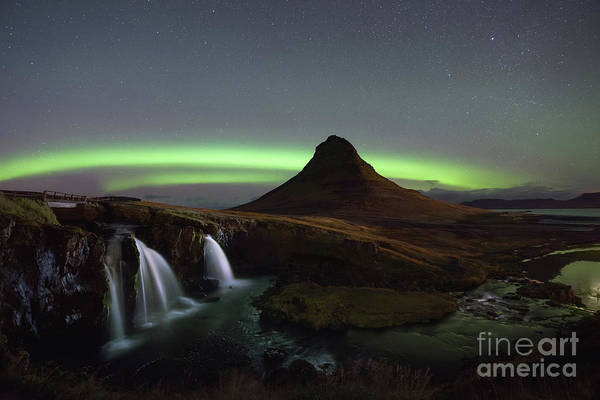 Photograph - Kirkjufellsfoss Aurora Lights  by Michael Ver Sprill
