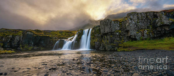Photograph - Kirkjufellsfoss Panorama  by Michael Ver Sprill