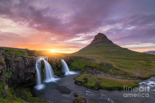 Wall Art - Photograph - Kirkjufellsfoss Sunset by Michael Ver Sprill
