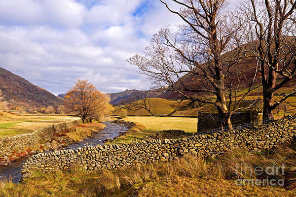 Wall Art - Photograph - Kirkstone Beck And An Old Stone Barn. by Richard Thomas