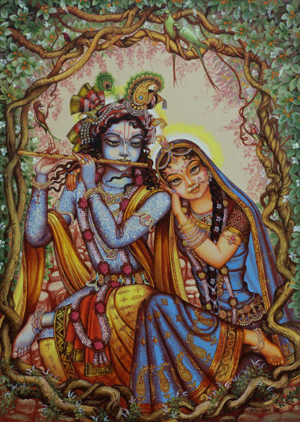 Wall Art - Painting - Kishor Kishori by Vrindavan Das