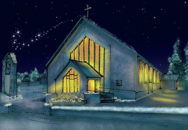 Mixed Media - Kiskeam Church by Danny O'Connor