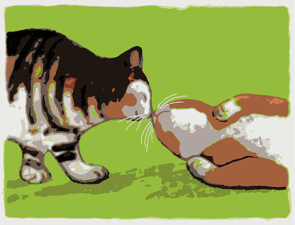 Painting - Kiss #2 by Kazumi Whitemoon