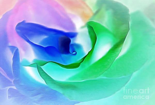 Rainbow Rose Wall Art - Photograph - Kiss From A Rose by Krissy Katsimbras
