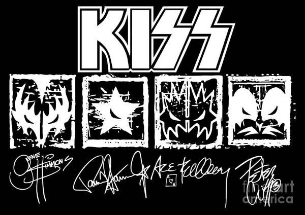 Wall Art - Digital Art - Kiss No.04 by Geek N Rock