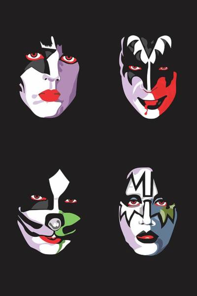 Music Wall Art - Digital Art - Kiss by Troy Arthur Graphics