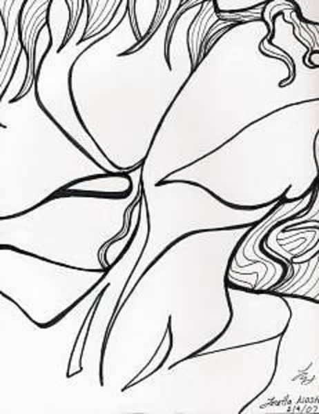 Drawing - Kiss Vi by Loretta Nash