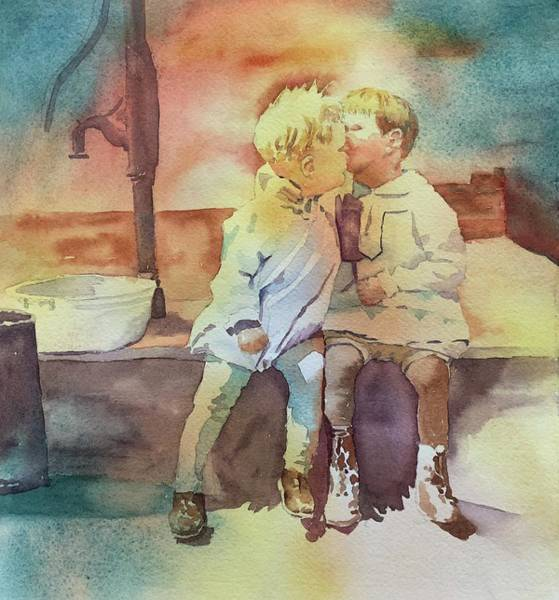 Painting - Kissing Cousins by Tara Moorman