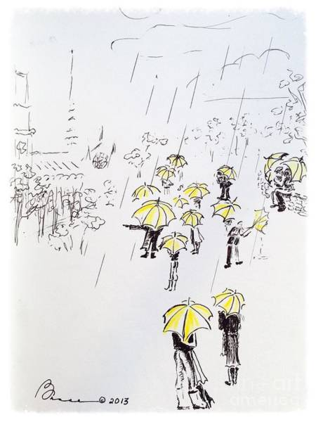 Miserable Drawing - The Tour Group by Barbara Chase