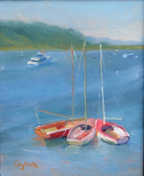 Wall Art - Painting - Kisssing Boats by Sylvia Carlton