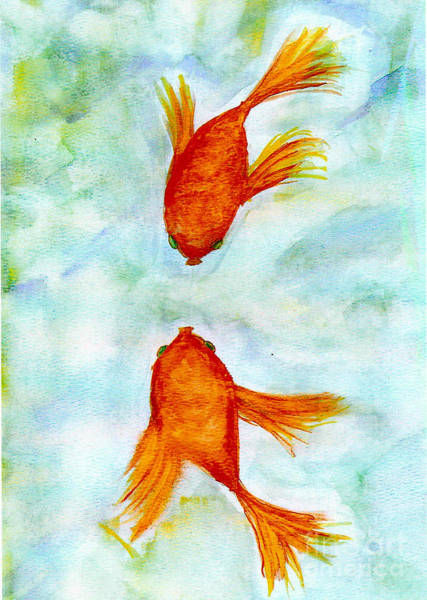 Painting - Kissy Fish by Susan Hendrich