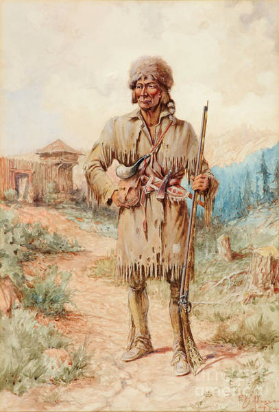 Native American Culture Painting - Kit Carson by Celestial Images