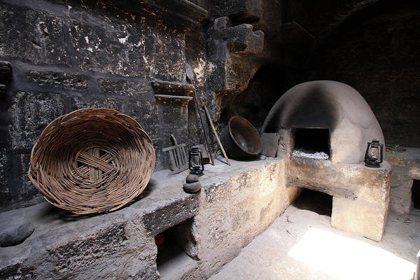 Photograph - Kitchen At Santa Catalina Monastery  by Aidan Moran