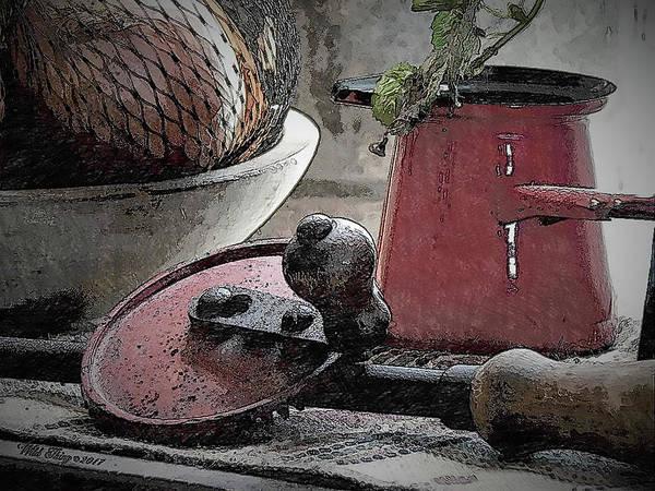 Digital Art - Kitchen Flotsam by Wild Thing