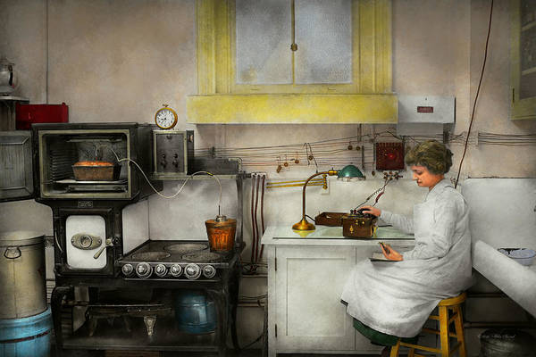 Photograph - Kitchen - How I Bake Bread 1923 by Mike Savad