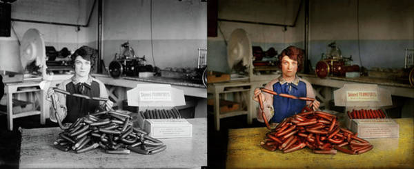 Photograph - Kitchen - Meat - Does It  Measure Up 1927 - Side By Side by Mike Savad
