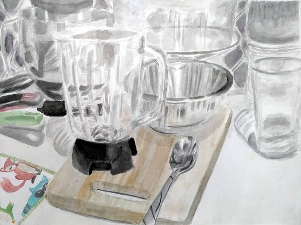 Glass Cutting Painting - Kitchen by Morgan Beaty