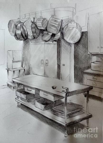 Wall Art - Drawing - Kitchen by Steven Munger