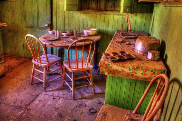 Kitchen Table Bodie California Art Print