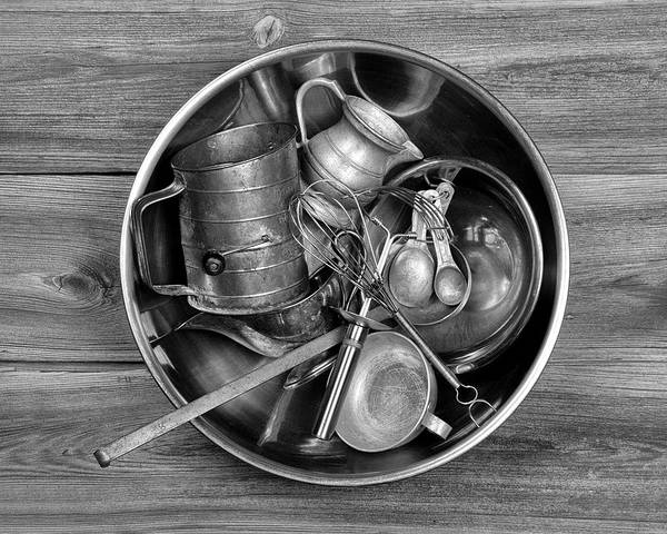 Stainless Steel Wall Art - Photograph - Kitchen Utensils Still Life I by Tom Mc Nemar