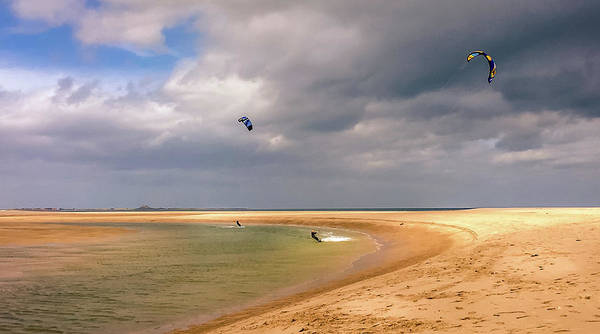 Preston Castle Photograph - Kite Surfing At The Bay by Naylors Photography