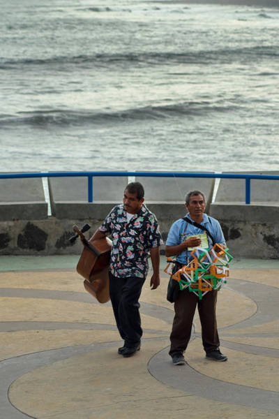 La Libertad Photograph - Kite Vendor And Mariachi by Totto Ponce