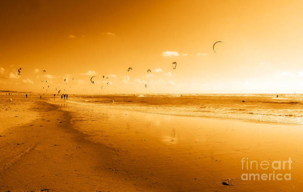 Flying A Kite Photograph - Kites by Ken A Earl