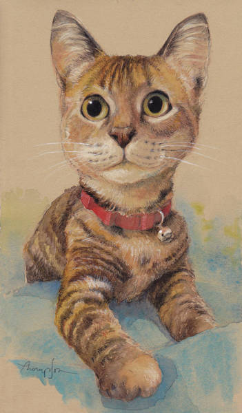 Kitten Wall Art - Painting - Kitten On The Loose by Tracie Thompson