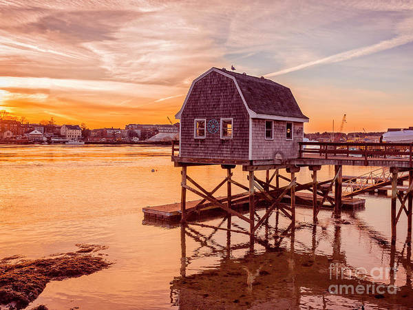 Photograph - Kittery Maine Harbor Sunset by Edward Fielding