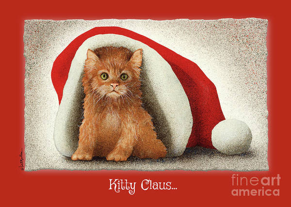 Painting - Kitty Claus... by Will Bullas