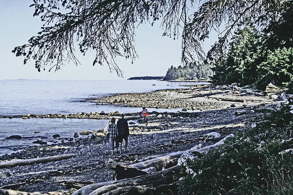 Digital Art - Kitty Colemans Beach - Bc by Joseph Coulombe