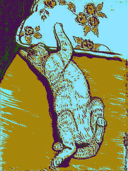 Linoleum Mixed Media - Kitty Heaven #3 by Vincent Mantia