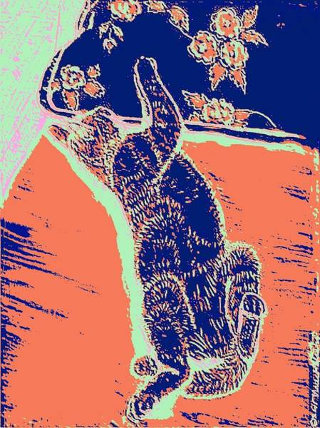 Linoleum Mixed Media - Kitty Heaven by Vincent Mantia