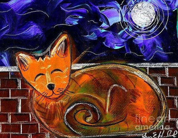 Painting - Kitty Moon by Susan Hendrich