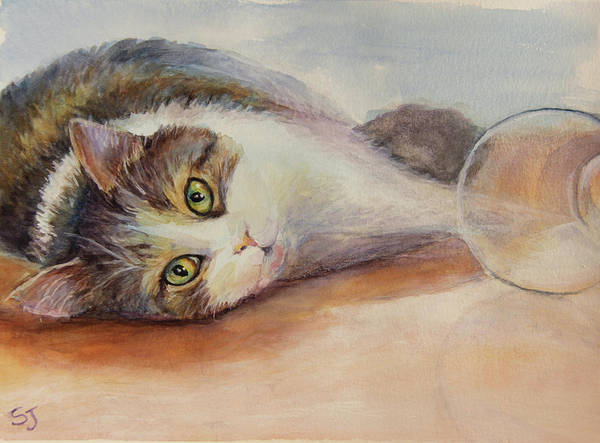 Painting - Kitty With Spilled Milk by Susan Jenkins