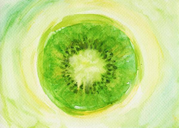 Ingredient Painting - Kiwi Fruit by Kathleen Wong