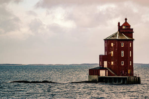 Kjeungskjaer Lighthouse Norway Art Print