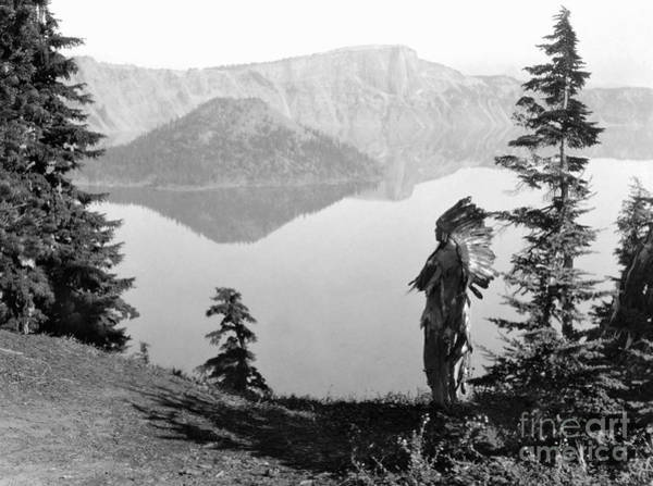 Crater Lake Photograph - Klamath Chief, C1923 by Granger