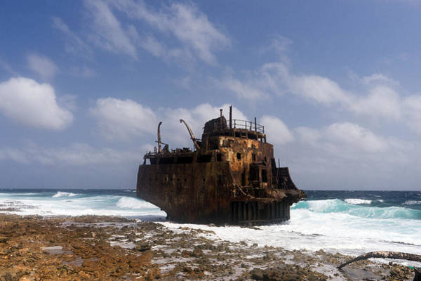 Photograph - Klein Curacao Shipwreck by For Ninety One Days